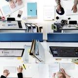 Bedrijfsmensenbureau die Collectief Team Concept werken royalty-vrije stock foto's
