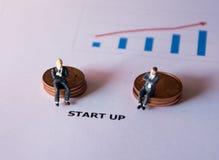 Bedrijfsmensenconcept voor start bedrijfsconcept Stock Afbeelding