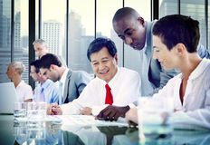 Bedrijfsmensendiversiteit Team Corporate Communication Concept Royalty-vrije Stock Foto's