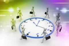 Bedrijfsmensengang de klok rond Stock Foto's