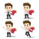 Bedrijfsmensenhandeling als superman Stock Foto