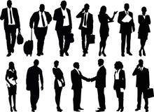 Bedrijfsmensenillustratie, mannen en van vrouwen geplaatste vector - Stock Foto