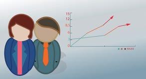 Bedrijfsmensenpictogrammen. Stock Afbeelding