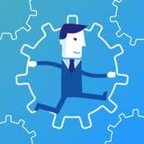 Bedrijfsmotor Bedrijfs conceptenillustratie vector illustratie