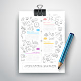 Bedrijfsonderwijspotlood Infographics Stock Fotografie
