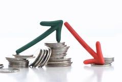 Bedrijfsonzekerheidsconcept en risicoidee Stock Afbeeldingen