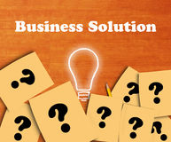 Bedrijfsoplossingsconcept, Tekst Stock Afbeelding