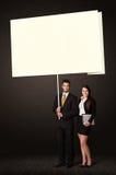 Bedrijfspaar met post-itdocument Royalty-vrije Stock Fotografie