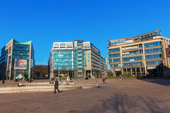 Bedrijfspark Mediapark in Keulen, Duitsland Royalty-vrije Stock Foto