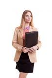 Bedrijfspersoon met in hand omslag Stock Foto