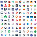 100 bedrijfspictogram Royalty-vrije Stock Foto's