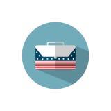 Bedrijfspictogram met Amerikaanse vlag Royalty-vrije Stock Foto's