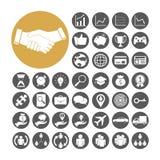 Bedrijfspictogram vastgestelde vectorillustratie Royalty-vrije Stock Afbeeldingen
