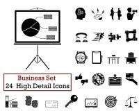 24 bedrijfspictogrammen Royalty-vrije Stock Afbeeldingen