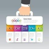 Bedrijfspictogrammen bedrijfs van het koffer de infographic ontwerp en Royalty-vrije Stock Fotografie
