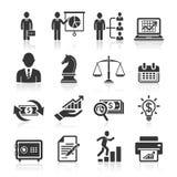 Bedrijfspictogrammen, beheer en personeel. Stock Afbeelding
