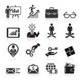 Bedrijfspictogrammen, beheer en personeel. Stock Foto's