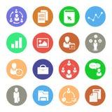 Bedrijfspictogrammen, geplaatste Webpictogrammen Stock Foto's
