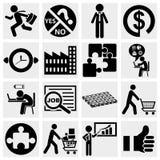 Bedrijfspictogrammen, menselijke hulpbron, logistische financiën,  royalty-vrije illustratie