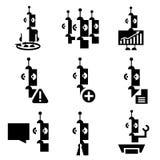 Bedrijfspictogrammen van robots dergelijke toekomst Royalty-vrije Stock Afbeelding