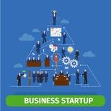 Bedrijfspiramideinfographics stock illustratie