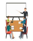 Bedrijfspresentatie voor groep mensen vector illustratie
