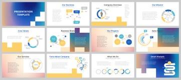 Bedrijfspresentatiemalplaatjes vector illustratie