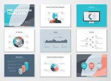 Bedrijfspresentatiemalplaatjes en infographic vectorelementen vector illustratie