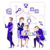 Bedrijfsproces in een team Stock Foto's