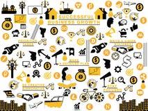 Bedrijfsproces en stappen mixup stock illustratie