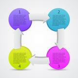 Bedrijfsprojectmalplaatje met tekstgebieden stock illustratie