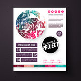 Bedrijfsprojectmalplaatje in retro kleuren Royalty-vrije Stock Afbeeldingen
