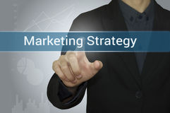 Bedrijfspunt Digitale Marketing op website Stock Foto