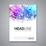 Bedrijfsrapportontwerp, vliegermalplaatje, achtergrond met kleurrijke punten De lay-out van het het malplaatjemodel van de brochu Royalty-vrije Stock Afbeelding