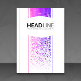 Bedrijfsrapportontwerp, vliegermalplaatje, achtergrond met kleurrijke punten De lay-out van het het malplaatjemodel van de brochu Royalty-vrije Stock Foto's