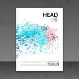 Bedrijfsrapportontwerp, vliegermalplaatje, achtergrond met kleurrijke punten De lay-out van het het malplaatjemodel van de brochu Stock Afbeeldingen