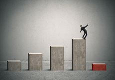 Bedrijfsrisico met crisis Royalty-vrije Stock Afbeelding
