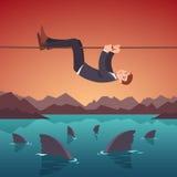 Bedrijfsrisico's en moeilijkhedenconcept vector illustratie