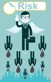 Bedrijfsrisico's Vector royalty-vrije illustratie