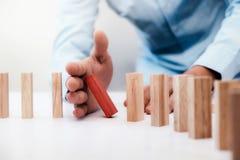 Bedrijfsrisico, Strategie, het conceptenidee van het Planningsbeheer Stock Fotografie