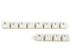 Bedrijfsrisico van verspreide toetsenbordsleutels op wit Royalty-vrije Stock Afbeelding