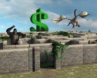 Bedrijfsrisicobeloning Maze Sales vector illustratie