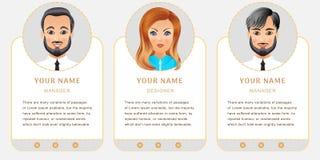 Bedrijfsset van tekens Banners voor uw Webontwerp in zaken Royalty-vrije Stock Fotografie
