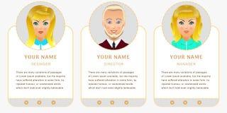 Bedrijfsset van tekens Banners voor uw Webontwerp in zaken Stock Afbeeldingen