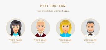 Bedrijfsset van tekens Banners voor uw Webontwerp in zaken Stock Fotografie