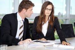 Bedrijfssituatie in Bureau Stock Afbeeldingen