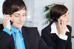 Bedrijfssituatie in Bureau Stock Foto's