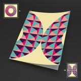 A4 bedrijfsspatie abstracte vectorillustratie Stock Fotografie