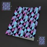 A4 bedrijfsspatie abstracte vectorillustratie Royalty-vrije Stock Afbeelding