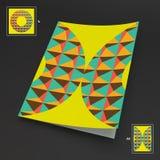 A4 bedrijfsspatie abstracte vectorillustratie Stock Foto's